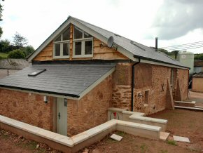 New roof on barn conversion at Lydeard St Lawrence