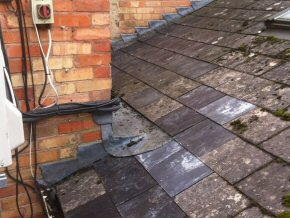 Repaired roof after attempted break in in Taunton, Somerset